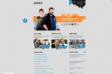 Screenshot of the Jagex Careers website